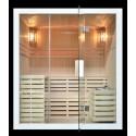 Finnische Sauna Polar Light 180x160 Prime WHITE - Traditionelle Sauna