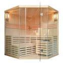 Finnische Sauna Polar Light 180 ECK PRIME - Traditionelle Sauna Heimsauna