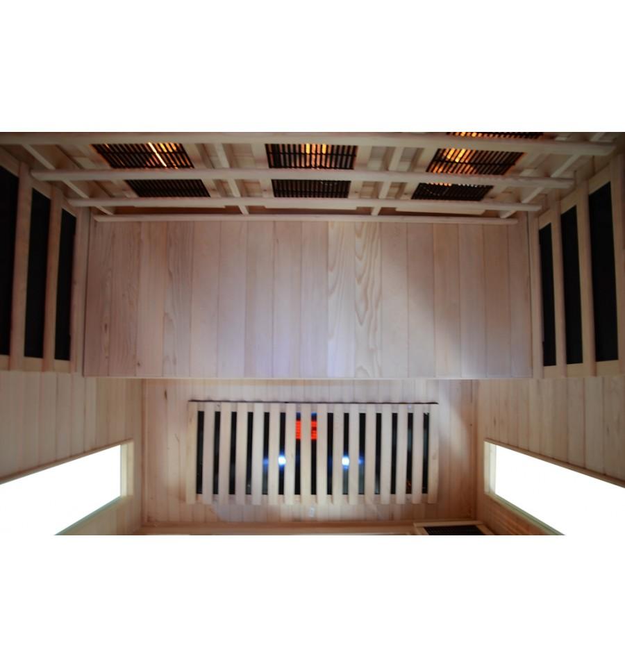 infrarotkabine infrarotw rmekabine infrarotsauna vollspektrum ir kabine sauna ebay. Black Bedroom Furniture Sets. Home Design Ideas