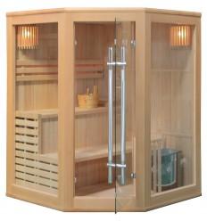 Finnische Sauna FINN DELUXE 150 ECK - Traditionelle Sauna Heimsauna